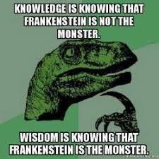 Monster Meme - dopl3r com memes knowledge is knowing that frankenstein is