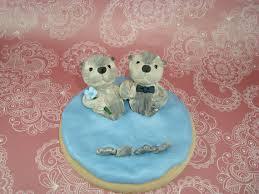 otter cake topper customized sea otter wedding cake topper
