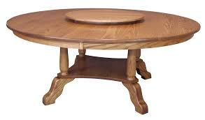 large round dining table traditional country solid oak wood 60