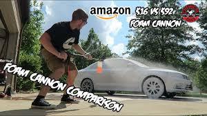 foam cannon foam cannon comparison 16 cannon vs 90 professional