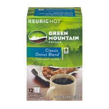 light roast k cups green mountain coffee classic donut blend light roast k cup pods