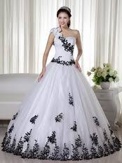 black and white quinceanera dresses shoulder white quinceanera dress with black leaves decorate