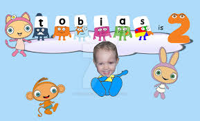 2nd birthday card for cbeebies by colormeonce on deviantart