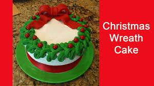 Holiday Wreath Ideas Pictures Easy To Decorate Christmas Wreath Cake Youtube