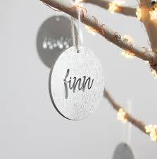personalised tree ornaments pack of four by fira studio