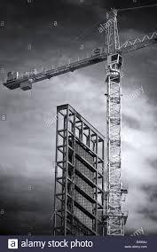 tower crane construction of manitoba hydro office tower u0027s solar