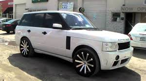 black land rover with black rims 22 inch velocity vw12 12 black wheels 2008 range rover rims miami
