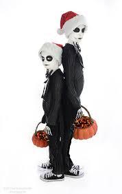 skellington costume nightmare before black