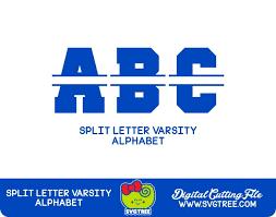 varsity letter sports letters split letter svg svg letters