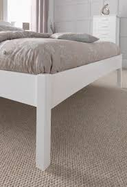 serene eleanor 3ft single white wooden bed frame with low footend
