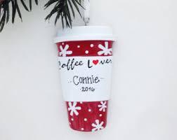coffee ornament etsy