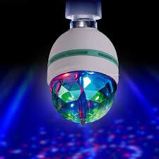 Disco Light Bulb Led High Power Spinning Disco Light Bulb Amazon Co Uk Kitchen U0026 Home