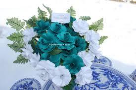 Teal Roses Memorial Flowers