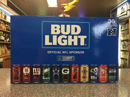 how much is a 36 pack of bud light nfl team logo 36 pack bud light cans rico s liquor llc facebook