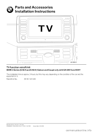 bmw 3 series 2005 e46 tv function retrofit kit installation