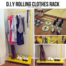 diy storage ideas for clothes via hrrthrrr diy rolling clothes rack tutorial http hrrrthrrr