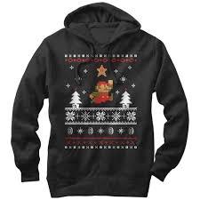 nintendo men u0027s mario ugly christmas sweater lightweight hoodie