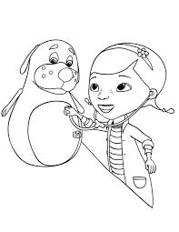 rudy bit sick doc mcstuffins coloring netart