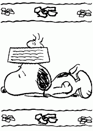 snoopy feeling tired coloring pages place color
