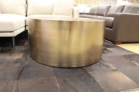 Dwr Coffee Table Milo Baughman Drum Coffee Table Bronze Dwr Design Within Reach Mid
