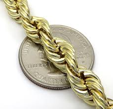 rose gold rope chain bracelet images 10k yellow gold medium hollow rope chain 24 30 inch 8mm jpg