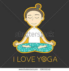 does yoga exercises vector yoga stock vector 305664704