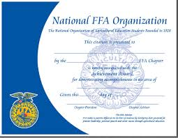 ffa certificate template general award certificate template