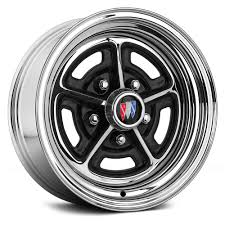 Black Chrome Mustang Rims Wheel Vintiques Buick Rally Wheels Chrome With Semi Gloss Black