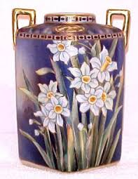 Noritake Vases Value Antique Hand Painted Nippon Old Noritake Floral Stylized Iris Vase