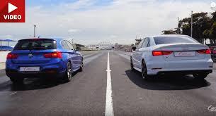 bmw vs audi race bmw m135i vs audi s3 sedan in drag race bmwcoop