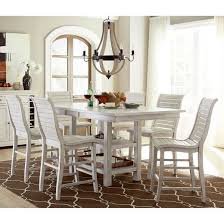 willow rectangular counter height dining table distressed white