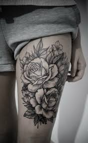 best 25 flower tattoos on thigh ideas on pinterest sunflower