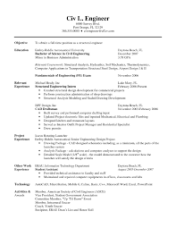 Best Resume Examples For Freshers Engineers by Best Resume For Civil Engineer Fresher Free Resume Example And