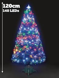 snowtime fibre optic galaxy tree 120cm with 140 multi colour