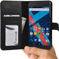 amazon com abacus24 7 flip stand wallet case for google nexus 6p