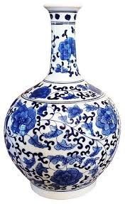 Chinese Blue And White Vase Classic Chinese Vintage Ming Era Blue And White Porcelain Floral