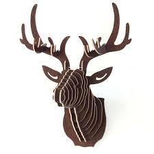 Moose Head Decor Cardboard Moose Wall Decor Wedding Decor