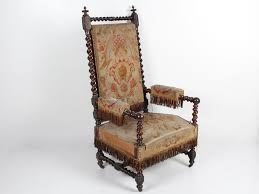 Armchair With Wheels Bellamy U0027s Wood And Aubusson Louis Xiii Armchair
