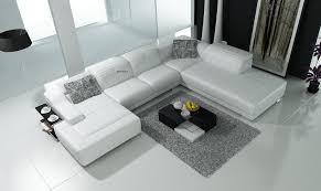 canapé d angle blanc cuir canapé panoramique cuir turino canapé d angle blanc en cuir 6