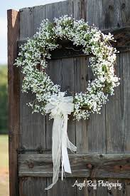 Wedding Wreaths The 25 Best Babys Breath Wreath Ideas On Pinterest White Wreath