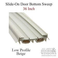 Door Bottom Sweeps For Exterior Doors Slide On Door Sweep Slide On Door Bottom All About Doors