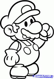 drawn mario video game pencil color drawn mario video game