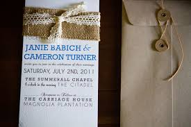 burlap wedding invitations burlap wedding invitation with lace dodeline design