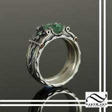 interlocking engagement ring wedding band handmade interlocking steam wedding set by earth gem