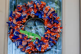sale florida gator wreath florida gator decor college