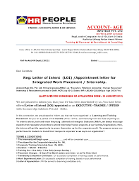 Sle Letter Of Intent For Salary Loan letter of intent loi appointment letter offer letter format