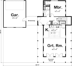 Farmhouse Floor Plan by 1 5 Story Modern Farmhouse House Plan Canton