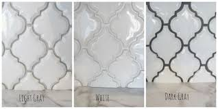 Gray And White Backsplash by Arabesque White Tile With Grey Grout Google Search Steam