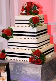 red black u0026 white wedding cake corcoran caterers