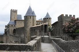 Carcassonne The Citadel Of Carcassonne On France Stock Photo Picture And